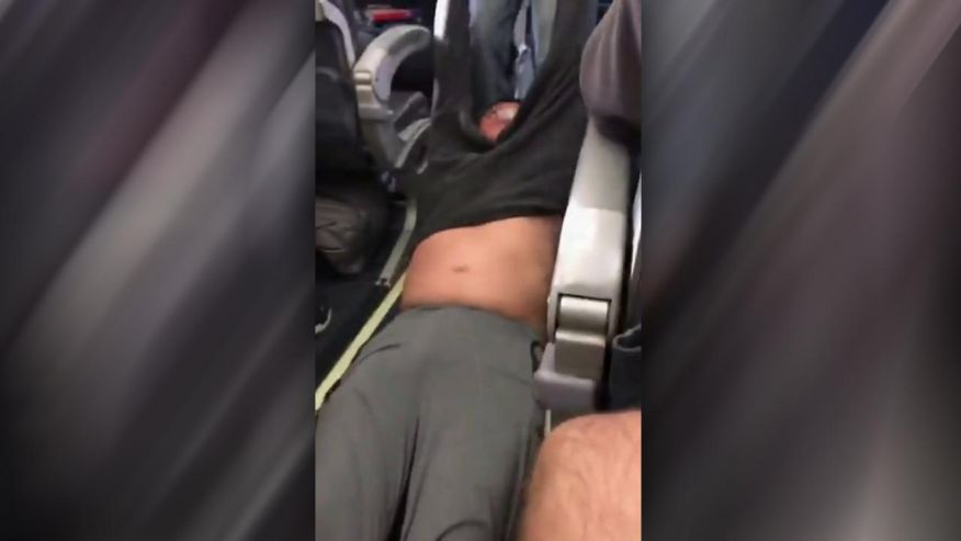 United Airlines Drags Man Off Plane